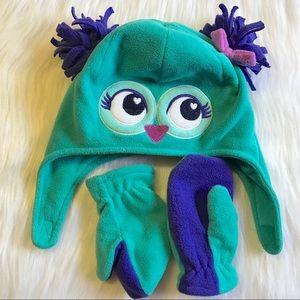 Owl Fleece Hat & Gloves